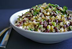 Black Bean Quinoa Salad | A Nutritionist Eats - maybe sub cous cous for the quinoa?