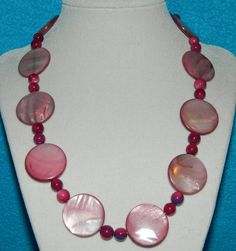 Copious: Pink Mother of Pearl necklace