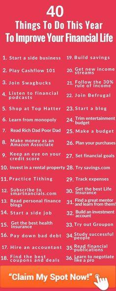 Amazing Ways To Improve Your Finances This Year - SmartNancials - Finance tips, saving money, budgeting planner Budgeting Finances, Budgeting Tips, Money Tips, Money Saving Tips, Money Budget, Money Hacks, Saving Ideas, Groceries Budget, Managing Money