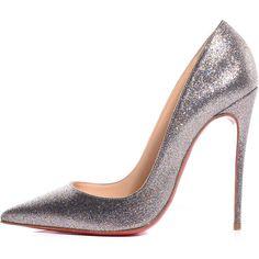 CHRISTIAN LOUBOUTIN Glitter So Kate 120 Pumps Grenadine 37.5 ❤ liked on Polyvore featuring shoes, pumps, glitter pumps, heels stilettos, multicolor pumps, pointed toe high heels stilettos and christian louboutin stilettos
