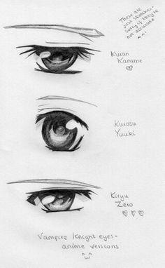 Vampire knight characters'eyes