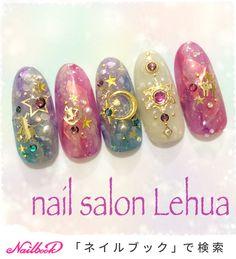 Korean Nail Art, Korean Nails, Nail Manicure, Pedicure, Sailor Moon Nails, Japanese Nail Art, Diy Nail Designs, Disney Nails, Hot Nails