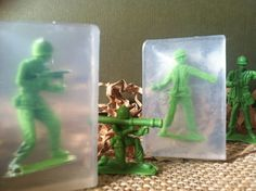 Soldiers Soap, Kids Soap, Party Favors, Army Soldier,Toy Story, Welcome Back. $1.65, via Etsy.