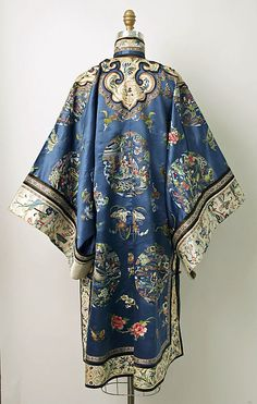 Late 19th century Chinese Women's Robe. // Medium: silk, metal Dimensions: Overall: 46 1/4 x 54 in. (117.5 x 137.2 cm) // Credit Line: Gift of Mrs. Mabel B. Kies, 1967 // Accession Number: C.I.67.30.2