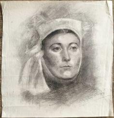 Evelyn de Morgan Rare Original Fine Graphite Drawing Signed Portrait. http://eaglefineart.co.uk/product/evelyn-de-morgan-rare-original-fine-graphite-drawing-signed-portrait/ #EvelynDeMorgan #eaglefineart
