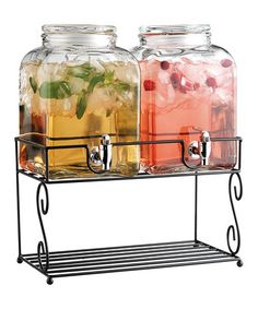 Another great find on Twin Beverage Dispensers On Rack by Home Essentials and Beyond Drink Dispenser, Summer Of Love, Serving Dishes, Mason Jars, Twins, Beverages, Cooking, Shelf, Essentials
