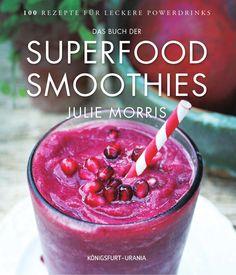 Superfood-Smoothies Die SUPERFOOD-Smoothies von Julie Morris - Genuss, Gesundheit, Energie Was sind Superfoods? Lebensmittel, die besonders reich an Vitaminen, Mineralien, Spurenelementen, Vitalstoffen, Proteine u.a.m. sind. Was das bedeutet, weiß jeder, der zum Beispiel schon einmal wegen Gefäßprobleme beim Arzt war. Alle für eine ausgewogene Ernährung nötigen Inhaltsstoffe sind im Superfood enthalten. Und Superfoods können noch viel mehr: beim vernünftigen Abnehmen helfen, Stress…