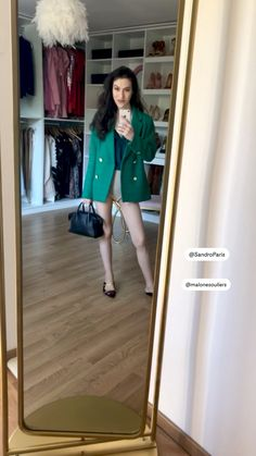 Fashion Bloggers, Latest Fashion Trends, Trendy Fashion, Blazer Outfits, Date Outfits, Lunch Date Outfit, Stylish Outfits, Fashion Outfits, Green Blazer