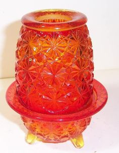 FAIRY LAMP~my mantle is full of them-all different colors, shapes, and sizes.
