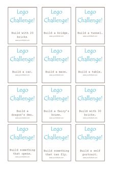 FREE Lego Challenge Printable - Your Kids OT