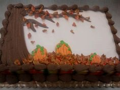 fall cake with pumpkins and tree 2010 by gfbakergirl88, via Flickr