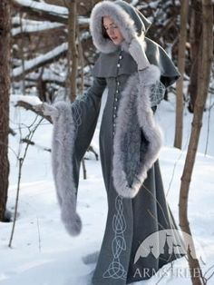 """I found 'Wool grey fantasy coat """"Heritrix of the Winter""""' on Wish, check it out!"""