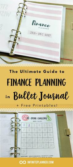 Bullet Journal Finance, Bullet Journal Budget, Bullet Journal Expense, Bullet Journal  This is an epic guide to financial planning in bullet journal, covering everything from being conscious of your spending to making more money! The guide is super long and comprehensive. Plenty of visual inspirations and some free printables.