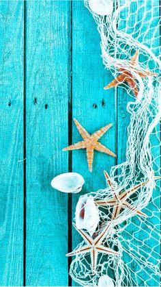 a Star Blue Wood Shell HD iPhone 5 Wallpaper Wallpaper Flower, Iphone 5 Wallpaper, Screen Wallpaper, Cool Wallpaper, Beachy Wallpaper, Summer Wallpaper Phone, Turquoise Wallpaper, Waves Wallpaper, Sunset Wallpaper