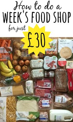 How to do a week's food shop for £30