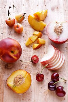 stone fruits by cannelle-vanille, via Flickr  nectarines and cherries