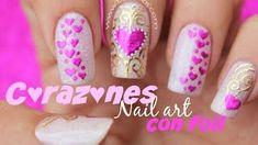 Heart Nail Art, Heart Nails, You Nailed It, Nail Designs, Valentines, Beauty, Vintage Paris, Youtube, Makeup