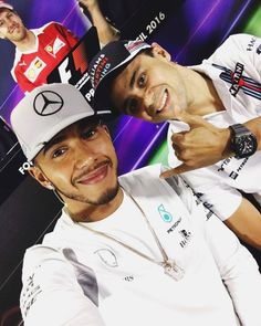 Hanging with at the press conference today! Seb photobombing in the back Felipe's last race here in Brazil so I'm wishing him an amazing weekend! Sports Car Racing, Race Cars, Motorsport Events, F1 Lewis Hamilton, Brazil 2016, Nico Rosberg, F1 Season, F1 Drivers, Fast And Furious