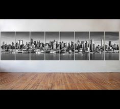 New York Black and White Large Art Canvas Print for Office wall Decor