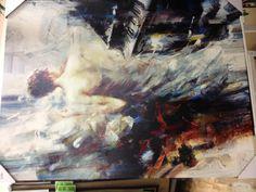 Brushstroke impressionistic painting
