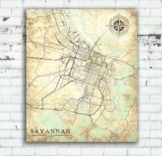 FORT MYERS FL Canvas Print Florida Vintage Map Fort Myers Vintage - Old savannags in us map