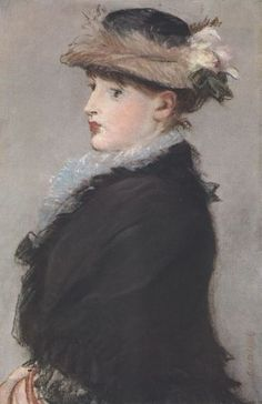 Édouard Manet - Méry Laurent Wearing Hat With Flowers, 1882