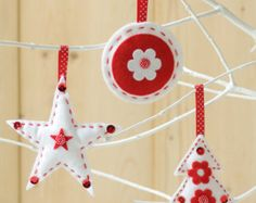 Felt Christmas Decorations Sewing Kit - 3 Pack