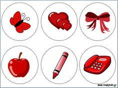 Παιχνίδι με τα χρώματα για μικρά παιδιά-Κόκκινο