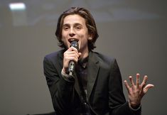 Timothee Chalamet Photos - Actor Timothee Chalamet speaks onstage at the Virtuosos Award Presented By UGG during The 33rd Santa Barbara International Film Festival at Arlington Theatre on February 3, 2018 in Santa Barbara, California. - The 33rd Santa Barbara International Film Festival - Virtuosos Award Presented by UGG