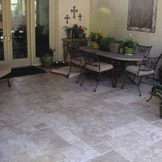 15 Best Travertine patios images | Travertine, Patio ... on Travertine Patio Ideas id=28745