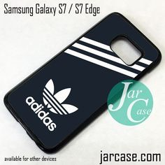 Black Adidas Custom Phone Case for Samsung Galaxy S7 & S7 Edge