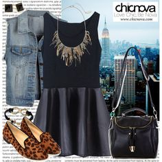 """""""Chicnova Back to School Outfit!"""" by christinavakidou on Polyvore"""