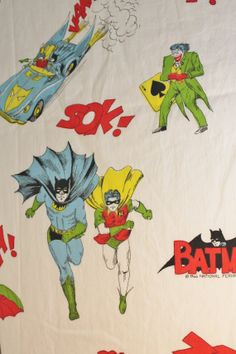 RARE 1966 Batman Fabric by KikiandCookoo on Etsy