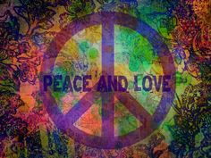 Peace and love graphic. :)
