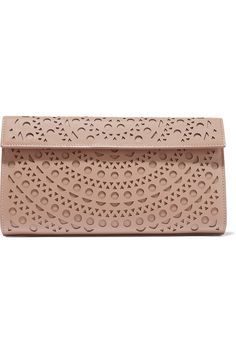 Alaïa | Vienne laser-cut leather clutch | NET-A-PORTER.COM