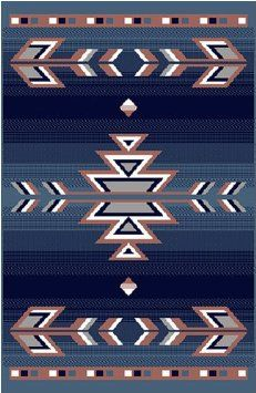 Home Dynamix Premium 7053 Country Blue Southwestern Rug - 7053 countryblue - Synthetic Rugs - Area Rugs by Material - Area Rugs Native American Blanket, Native American Rugs, Native American Patterns, Native American Design, Native Design, Southwestern Area Rugs, Southwestern Decorating, Southwest Art, Motifs Aztèques