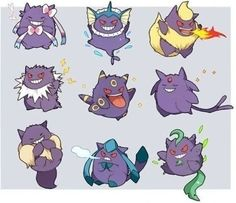 Gengar-lutions! Gengar can also have a cute side!