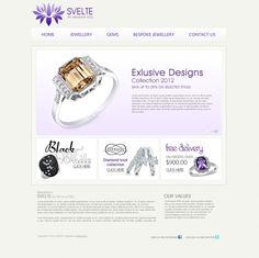"""Svelte"", Jewellery Website by eDesigners. Diamond Knot, Jewelry Website, Bespoke Jewellery, Research Projects, Cart, Gems, Design, Covered Wagon, Rhinestones"