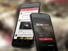 Android Social App for Dog Owners designed by Mamun Srizon. the global community for designers and creative professionals. Ui Forms, Mobile Login, Dog Owners, Android, App, Phone, Aliens, Screens, Creative