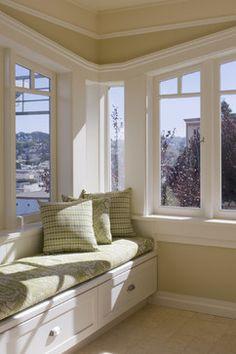 window seat, sunny corner Drew - contemporary - living room - other metro - John Lum Architecture, Inc. AIA