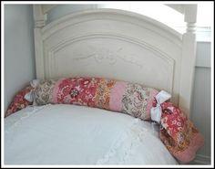Transforming a regular bed pillow into a bolster pillow #DIY #tip