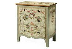 One Kings Lane - The Fine Print - Miller Floral Night Stand