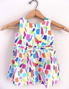 ♥ $12 + FREE SHIPPING  More @salesfortoday ALSO CHECK OUT www.stores.ebay.com/jenscreationstx   The Children Place Baby Toddler Girl Colorful 1st Birthday Party Dress Sz 12-18m