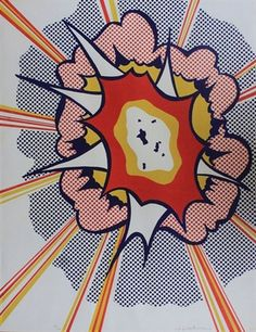 "Roy Lichtenstein, ""EXPLOSION"", Iconic, Historic Lithograph, 1967, Pop Art, Hand Signed & Numbered. Provenance: Original Portfolio 9 for Brooklyn Museum, Printed by Irwin Hollander"