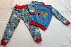 Schlafanzug - Pauli Winterspaß-  Gr. 104/110 Pajamas, Pajama Pants, Rompers, Dresses, Fashion, Two Piece Outfit, Pajama Set, Fabrics, Red