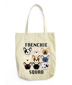 Frenchie Squad Tote Bag