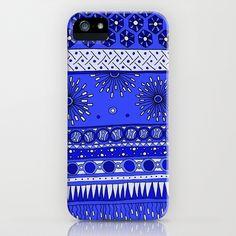 Yzor pattern 007-2 blue iPhone Case by azur-yzor - $35.00