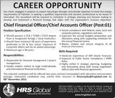 Chief Financial Officers Required In Sme Bank Limited Th October