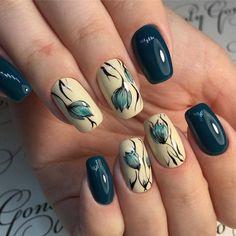 Red Gel Nails, Shellac Nails, Hot Nails, Green Nails, Hair And Nails, Short Nail Designs, Fall Nail Designs, Cute Nail Designs, Acrylic Nail Designs