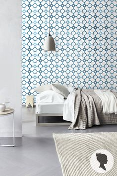 Geometric Pattern Self Adhesive Vinyl Wallpaper D081 by Livettes, $34.00 removable - for under sink cabinets in another colour...